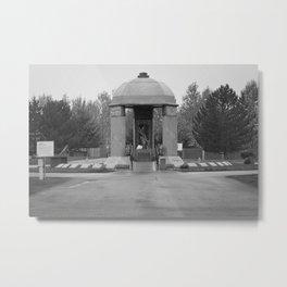 Jimi Hendrix Memorial Greenwood Memorial Park, Northeast Renton, Washington black and white photograph - photographs Metal Print