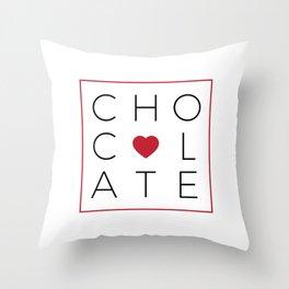 Chocolate Love Throw Pillow