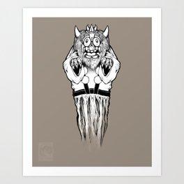 Oni Mask Art Print