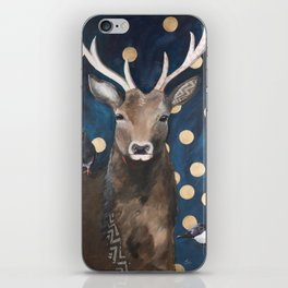 Stag with Tubbs and Goose iPhone Skin