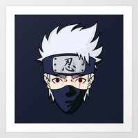 kakashi Art Prints featuring 090414—Kakashi by danielleBABYLON