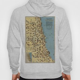 Map of Chicago 1940 Hoody