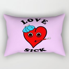 love sick Rectangular Pillow