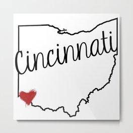 Heart Cincinnati Metal Print