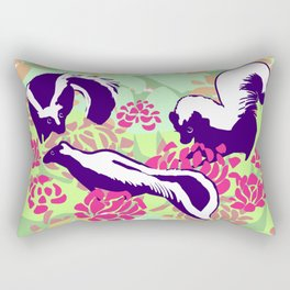Skunk Flower Fields Rectangular Pillow