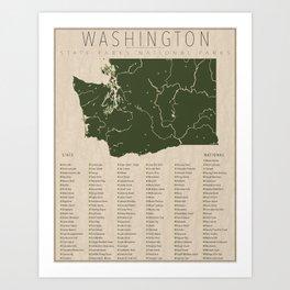 Washington Parks Art Print