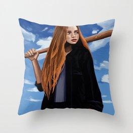 Sports Girl Bella Peng Throw Pillow