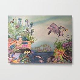 Journey Under the Sea by Maureen Donovan Metal Print
