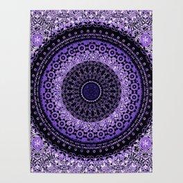 Purple Tapestry Mandala Poster