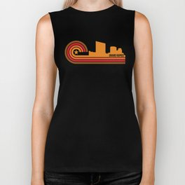 Retro Grand Rapids Michigan Skyline Biker Tank