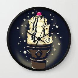 Ice Cream Bears (Dark Blue) Wall Clock