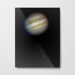 Hubble Space Telescope - The String of Pearls heading for Jupiter (1994) Metal Print