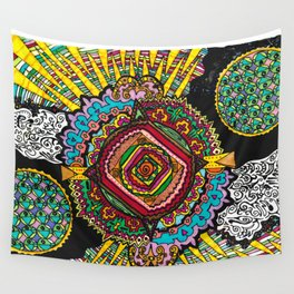 What spins is spun Wall Tapestry