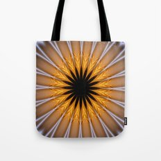 Golden Brown with a Twist Tote Bag