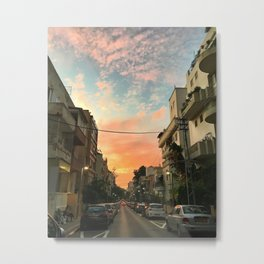 Urban colorful sunset Metal Print