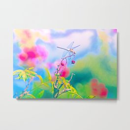 Dragonfly Dream a while Metal Print