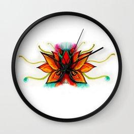 Flor de Loto Wall Clock