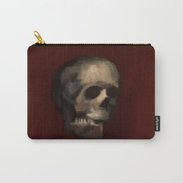 Cracked Skull illustration painting Carry-All Pouch