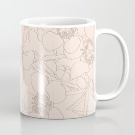 Australian Waxflower Line Floral in Natural Coffee Mug