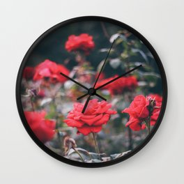 roses smell like spring Wall Clock
