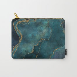 Golden Gemstone Glamour Mineral Carry-All Pouch