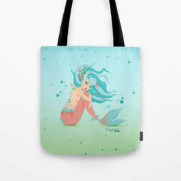 Monster Mermaid Pin-Up Tote Bag
