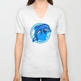 The Ecco Dolphins Unisex V-Neck