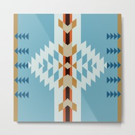 American Native Pattern No. 52 Metal Print