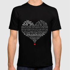 Mother's day poem - inverted MEDIUM Black Mens Fitted Tee