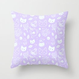 Herb Witch // Purple Pastel Throw Pillow