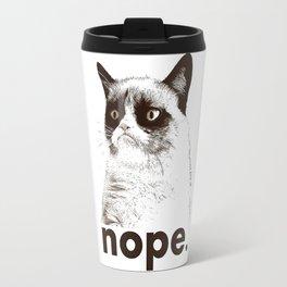 GrumpyCat nope Travel Mug