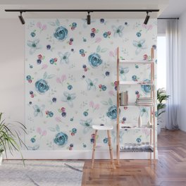 Emma Tossed Flowers Wall Mural