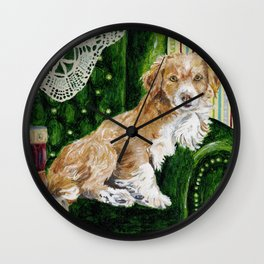 Sir Beckett, Dog With An Education Wall Clock