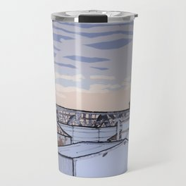 The Mill at Sunset Travel Mug