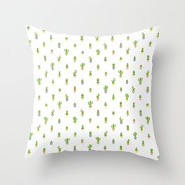 Cute Cacti Throw Pillow