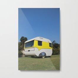 Retro Caravan vintage camper Metal Print
