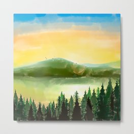 Lake Mountain Metal Print