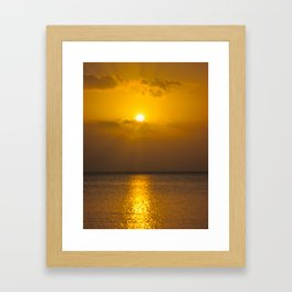 Jamaican Sunset II Framed Art Print