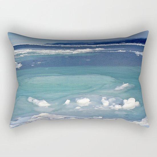 Snow and Ice pool Rectangular Pillow