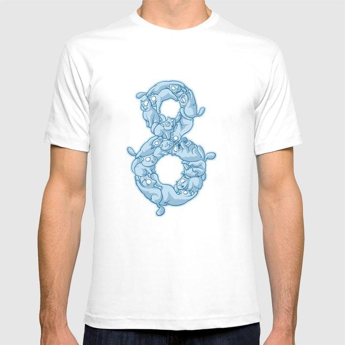8 Cats T-shirt