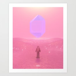 Lost Astronaut Series #03 - Floating Crystal Art Print