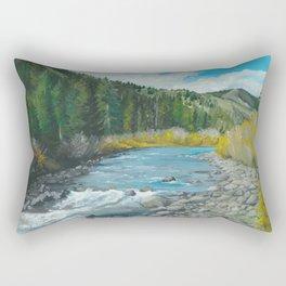 Mountain Stream Art Rectangular Pillow