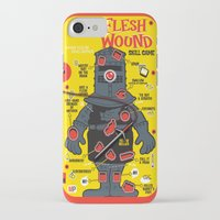 in the flesh iPhone & iPod Cases featuring Flesh Wound by Captain_RibMan