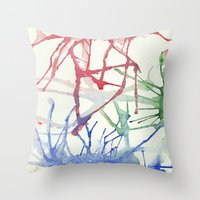 splatter Throw Pillows featuring Splatter by Alex Camp