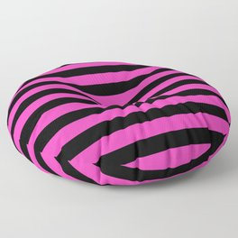 Hot Pink and Black Stripes Floor Pillow