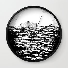 Abandoned to the Sun Wall Clock