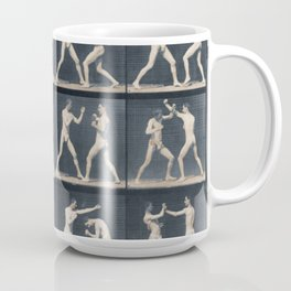 Time Lapse Motion Study Men Kick Boxing Coffee Mug