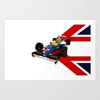 Nigel Mansell - Williams Renault FW14B Art Print