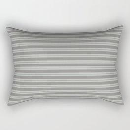 Benjamin Moore Cinder Dark Gray AF-705 and Color of the Year 2019 Metropolitan Stripes Rectangular Pillow