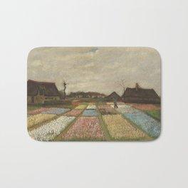 Vincent van Gogh Flower Beds in Holland c. 1883 Painting Bath Mat